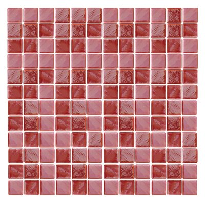 Iridescentz 1 x 1 Glass Mosaic Tile in Red