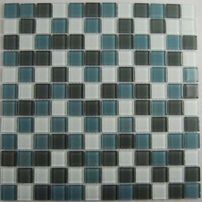 Cloudz Altostratus 1 x 1 Glass Mosaic Tile in Gray