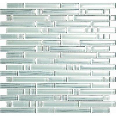 Brushstrokes Bianco Random Sized Glass Mosaic Tile in White