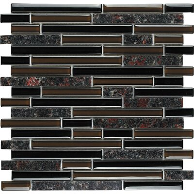 baltic brown random stone and glass blend mosaic in brown multi