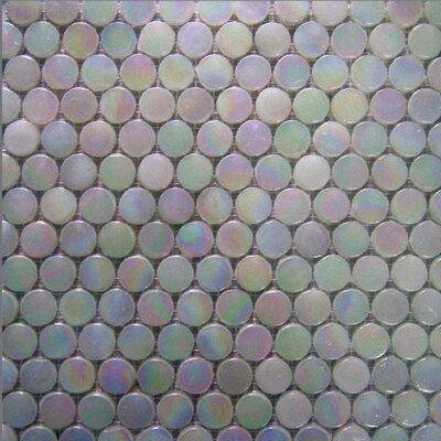 Alpinez 1 x 1 Glass Mosaic Tile in White Iridescent
