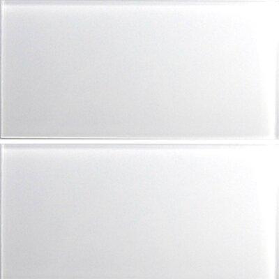 Alpinez Gulmarg 6 x 12 Glass Field Tile in White