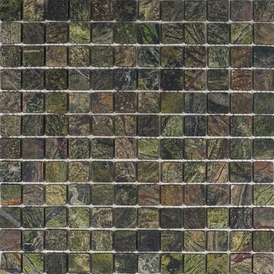 1 x 1 Marble Mosaic Tile in Rain Forest Green