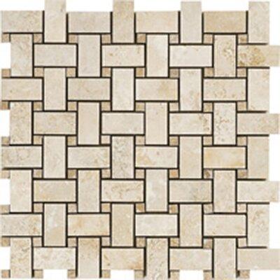 Random Sized Travertine Mosaic Tile in Durango