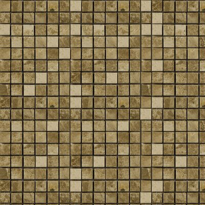 0.63 x 0.63 Marble Mosaic Tile in Emperador Light