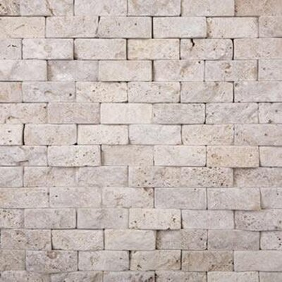 2 x 4 Travertine Splitface Tile in Beige