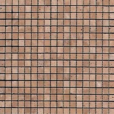 Noce 0.625 x 0.625 Travertine Mosaic Tile in Brown