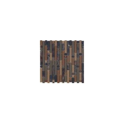 Varietals Random Sized Stone Composite and Glass Mosaic Tile in Brown