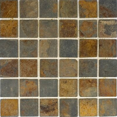 2 x 2 Slate Mosaic Tile in Sunsets
