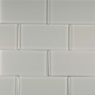 Cloudz Stratocumulus 3 x 6 Glass Subway Tile in Gray