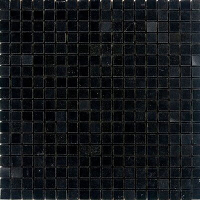 0.63 x 0.63 Granite Mosaic Tile in Absolute Black