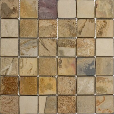 2 x 2 Slate Mosaic Tile in Fall