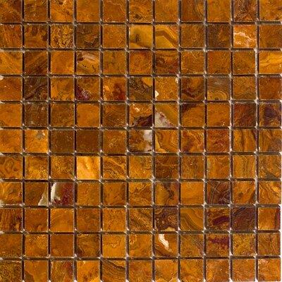 1 x 1 Onyx Mosaic Tile in Brown