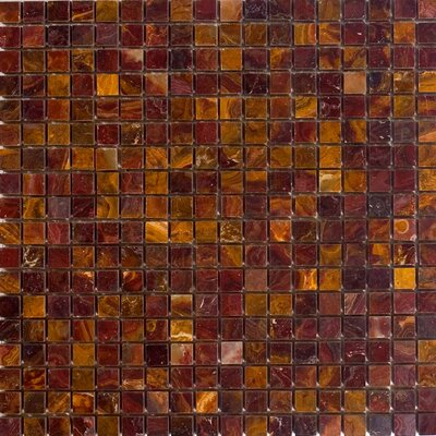 0.63 x 0.63 Onyx Mosaic Tile in Red