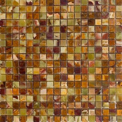 0.63 x 0.63 Onyx Mosaic Tile in Green