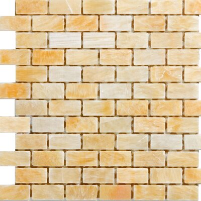 1 x 2 Onyx Mosaic Tile in Honey