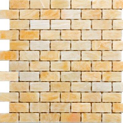 "1"" X 2"" Onyx Mosaic Tile In Honey"