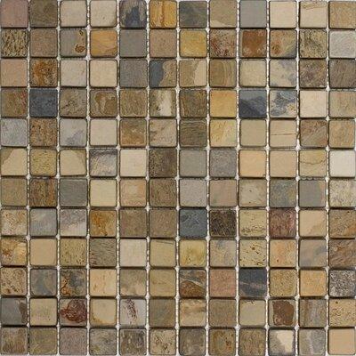 1 x 1 Slate Mosaic Tile in Fall