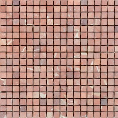0.63 x 0.63 Marble Mosaic Tile in Honed Red