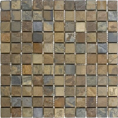 1 x 1 Slate Mosaic Tile in California Rustic