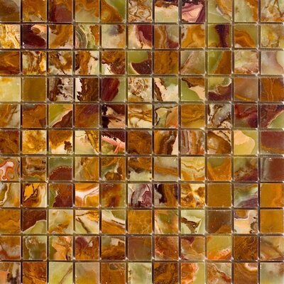 1 x 1 Onyx Mosaic Tile in Green
