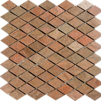 Diamond Slate Mosaic Tile in Copper