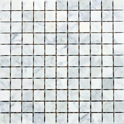 1 x 1 Marble Mosaic Tile in Italian Venatino