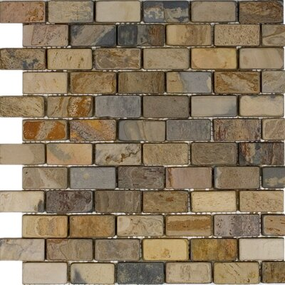 1 x 2 Slate Mosaic Tile in Fall