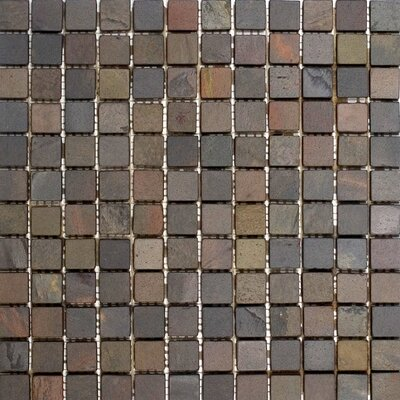 1 x 1 Slate Mosaic Tile in Indian Rain