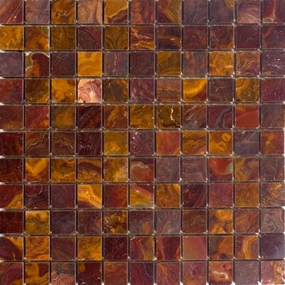 1 x 1 Onyx Mosaic Tile in Red
