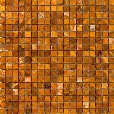 0.63 x 0.63 Onyx Mosaic Tile in Brown