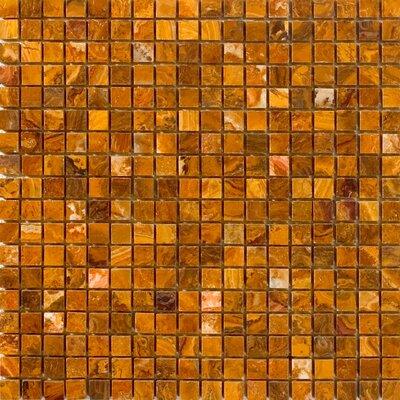 0.63 x 0.63 Onyx Mosaic Tile in Brown