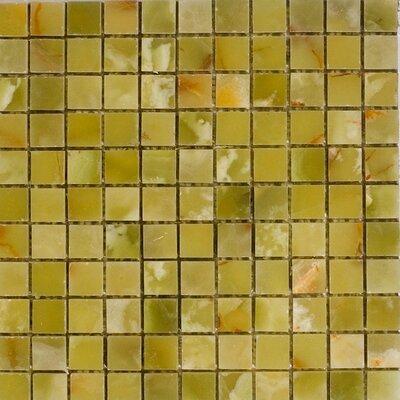 1 x 1 Onyx Mosaic Tile in Verde