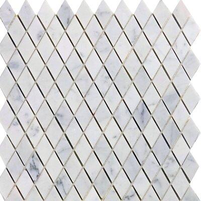 Diamond 12 x 12 Marble Mosaic Tile in Italian Venatino