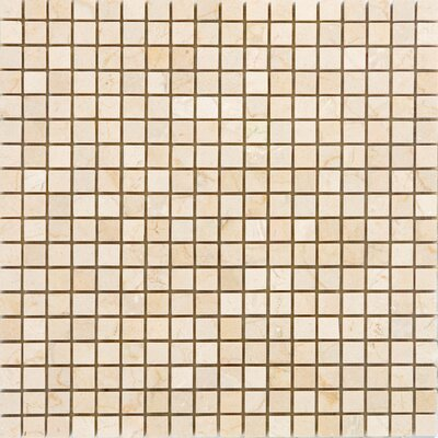 0.63 x 0.63 Marble Mosaic Tile in Polished Crema marfil