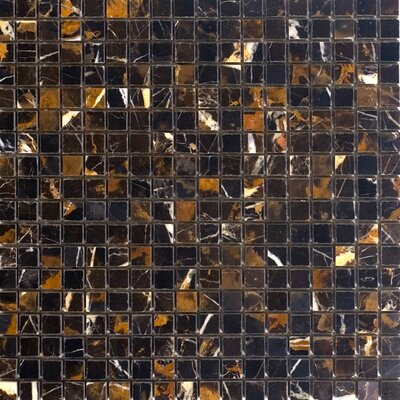 0.63 x 0.63 Marble Mosaic Tile in Michaelangelo