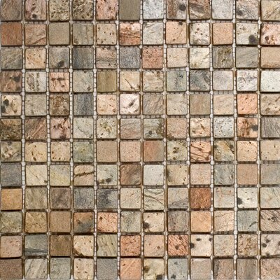 1 x 1 Slate Mosaic Tile in Copper