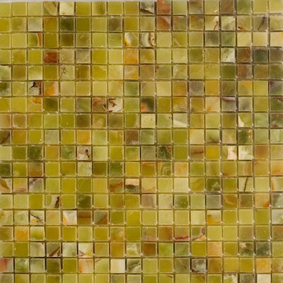 0.63 x 0.63 Onyx Mosaic Tile in Verde