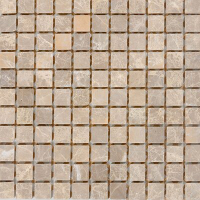 1 x 1 Marble Mosaic Tile in Emperador Light
