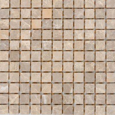 1 x 1 Marble Mosaic Tile in Emperador Light