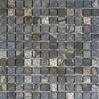 1 x 1 Slate Mosaic Tile in Ostrich Grey