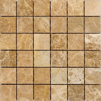 2 x 2 Marble Mosaic Tile in Emperador Light