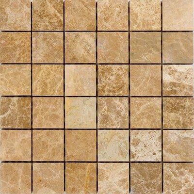 2 x 2 Marble Mosaic Tile in Emperador Light