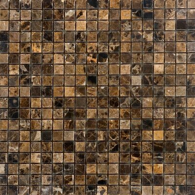 0.63 x 0.63 Marble Mosaic Tile in Emperador Dark