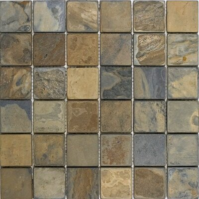 2 x 2 Slate Mosaic Tile in California Rustic