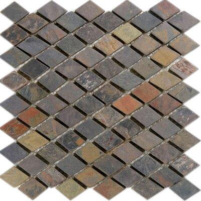 Diamond Slate Mosaic Tile in California Rustic