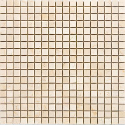 0.63 x 0.63 Marble Mosaic Tile in Crema Cappuccino