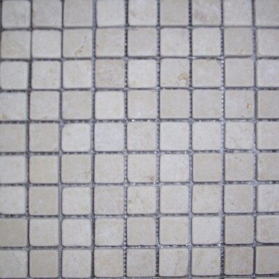 1 x 1 Limestone Mosaic Tile in Sunrise