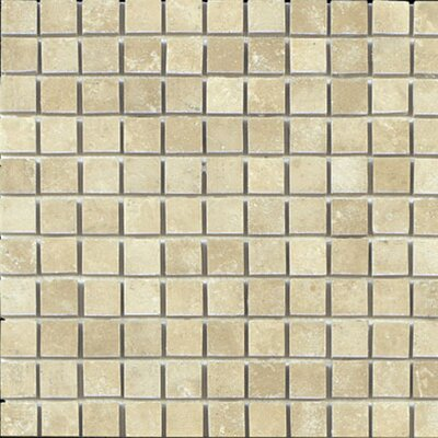 1 x 1 Travertine Mosaic Tile in Beige