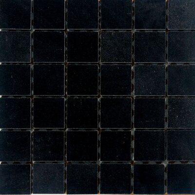 2 x 2 Granite Mosaic Tile in Absolute Black